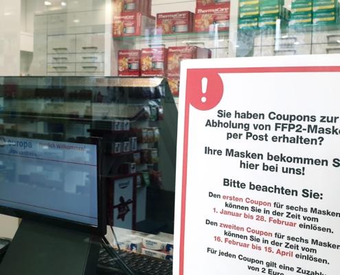 Abgabe FFP2 Masken Apotheke Wiesbaden, Frankfurt, Liederbach
